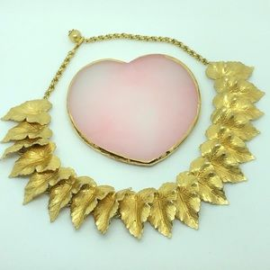 Ornate Leaves Catalpa or Tropical Taro Necklace